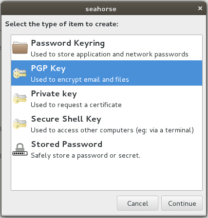 how to create pgp file